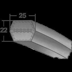 25x22-s profilú hatszögletű ékszíj (Optibelt)