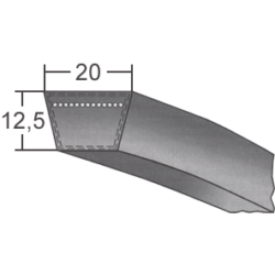 20x-es profilú klasszikus ékszíj (ConCar)