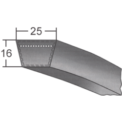 25x profilú klasszikus ékszíj (Rubena)