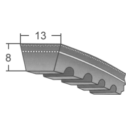 AX-es profilú fogazott ékszíj (Contitech márka)