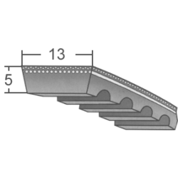 13x5-ös profilú ipari variátorszíjak