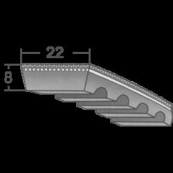 22x8-as profilú ipari variátorszíjak