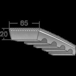 65x20-as profilú ipari variátorszíj