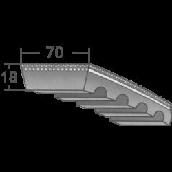 70x18-as profilú ipari variátorszíj