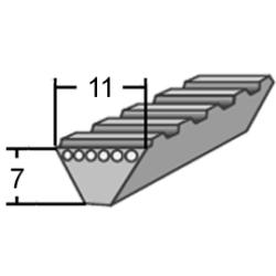 11M profilú WR (Polyflex) ékszíj