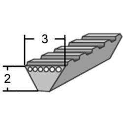 3M profilú WR (Polyflex) ékszíj