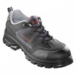 ARAGONITE -  fekete bivalybőr cipő (S1P CK, fémmentes)