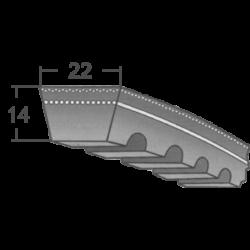 CX-es profilú fogazott ékszíjak