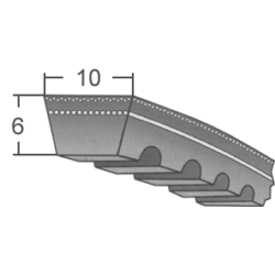ZX/X10-es profilú fogazott ékszíj