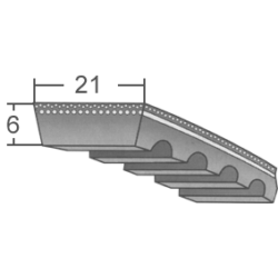 21x6-os profilú ipari variátorszíjak