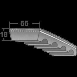 55x16-os profilú ipari variátor szíj