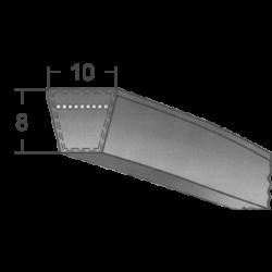 9,5-s keskeny profilú burkolt ékszíjak (Rubena)